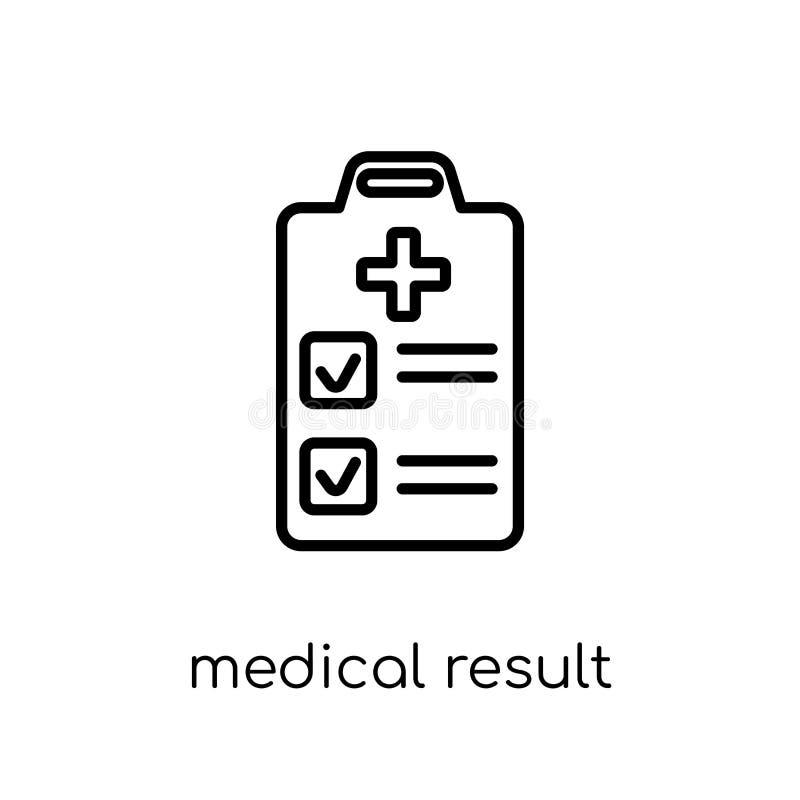 medisch resultaatpictogram In moderne vlakke lineaire vector Medisch aangaande vector illustratie