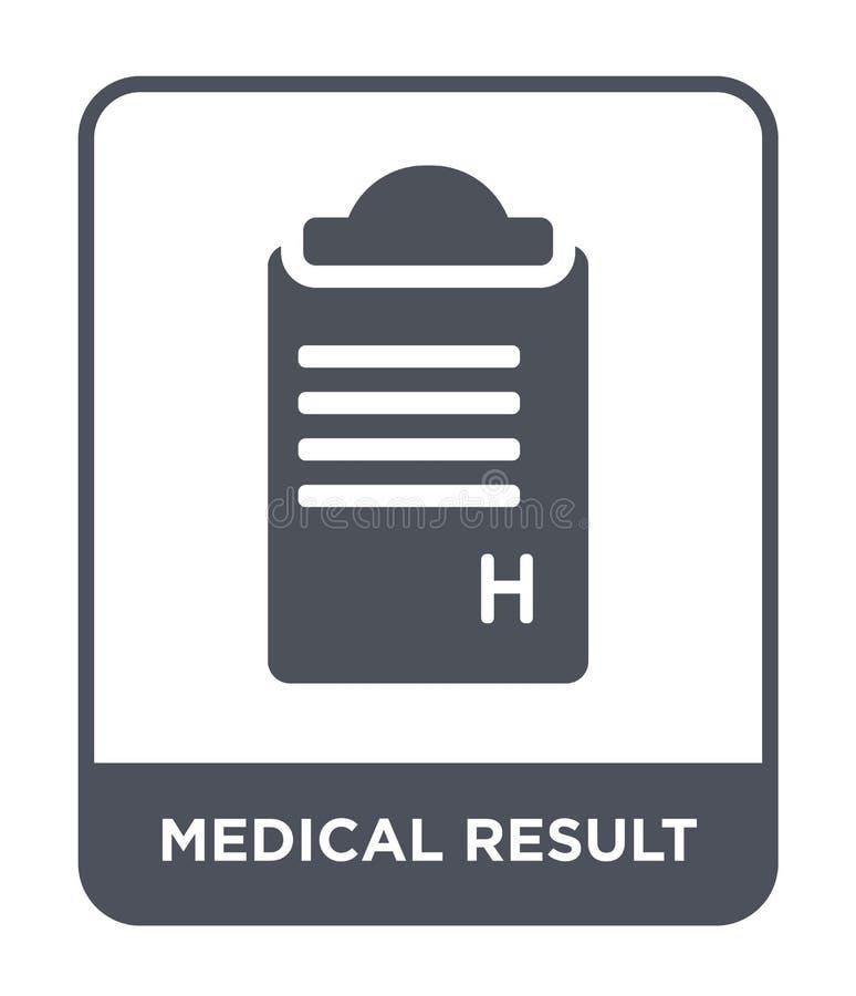 medisch resultaatpictogram in in ontwerpstijl medisch die resultaatpictogram op witte achtergrond wordt geïsoleerd medisch eenvou royalty-vrije illustratie