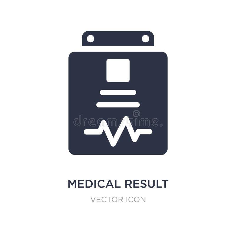 medisch resultaatpictogram op witte achtergrond Eenvoudige elementenillustratie van Gezondheid en medisch concept royalty-vrije illustratie