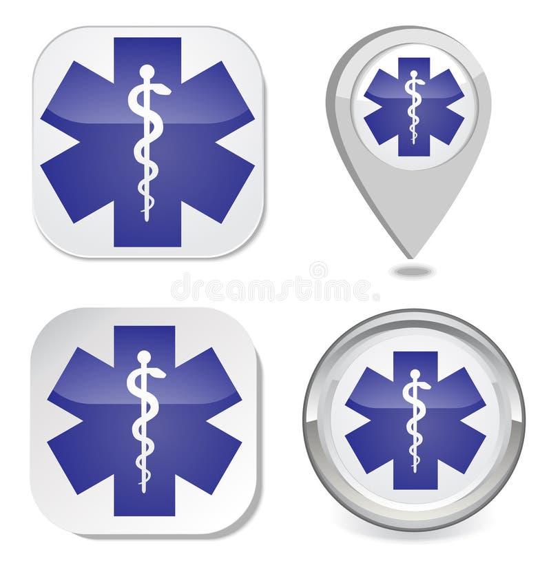 Medisch symbool van de Noodsituatie stock illustratie