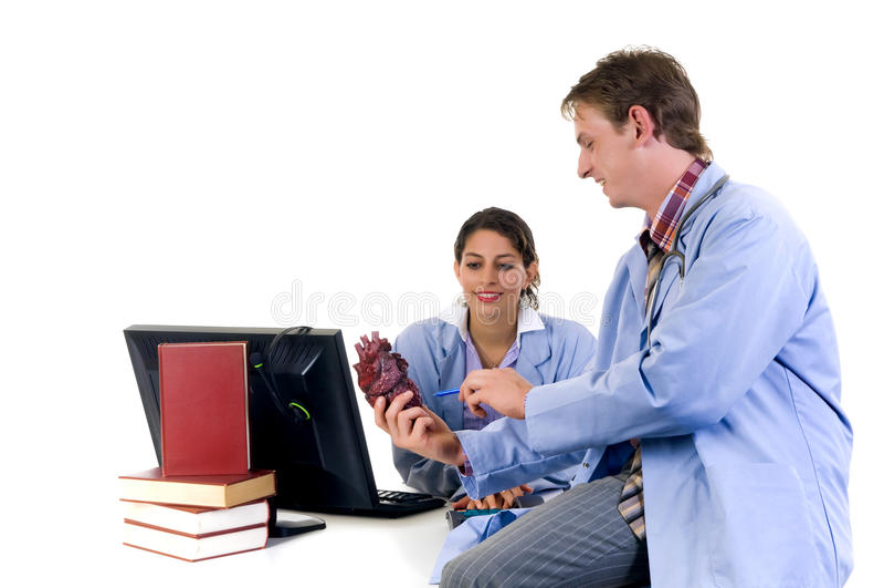 Medisch team, cardioloog stock foto's