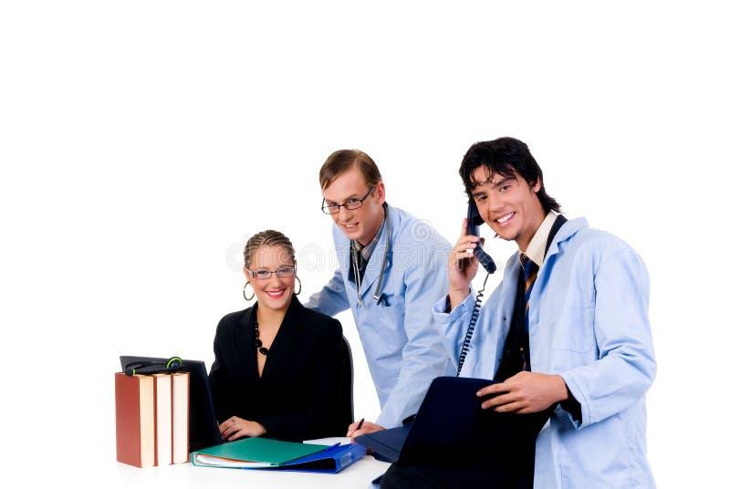 Medisch team, cardioloog stock fotografie