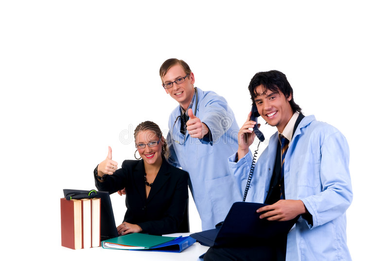 Medisch team, cardioloog stock foto