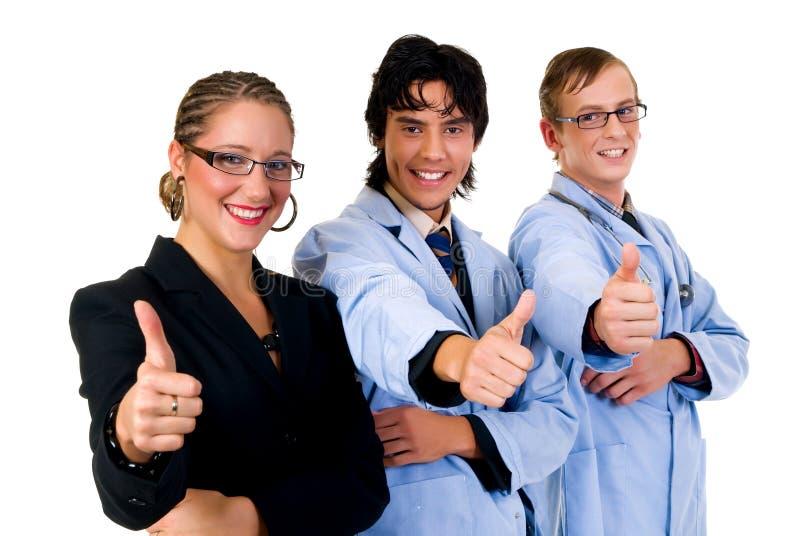 Medisch team, cardioloog stock afbeelding