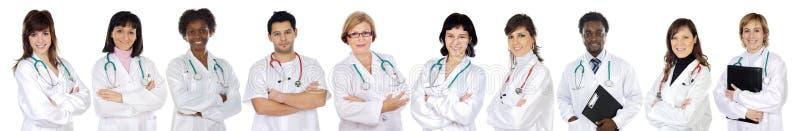 Medisch team van vrouw stock fotografie