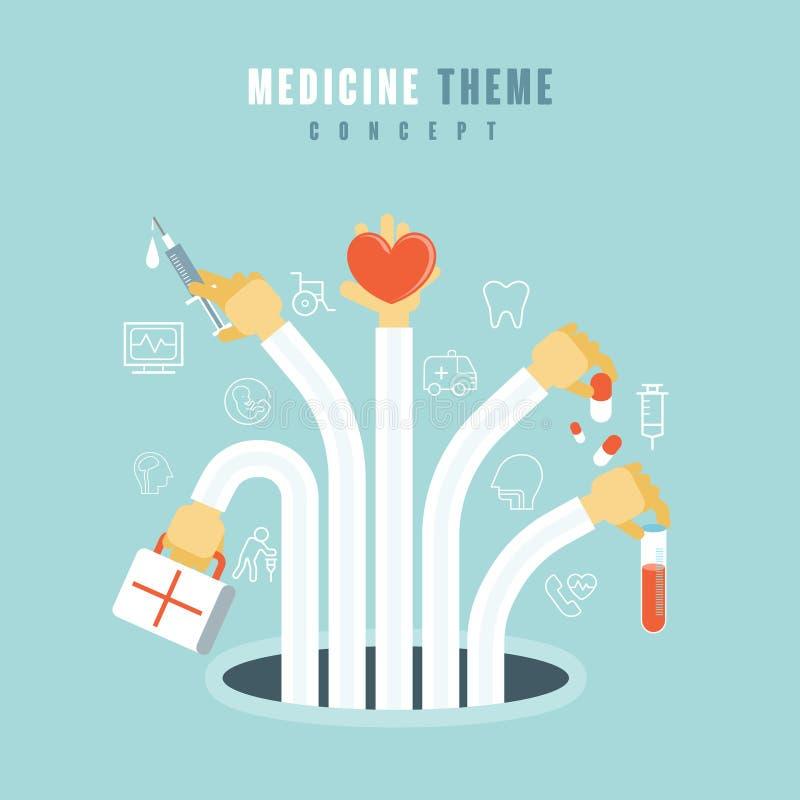 Medisch themaconcept stock illustratie