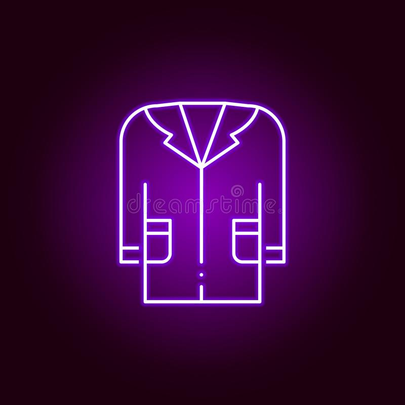 medisch togapictogram Elementen van wetenschapsillustratie in het violette pictogram van de neonstijl De tekens en de symbolen ku royalty-vrije illustratie