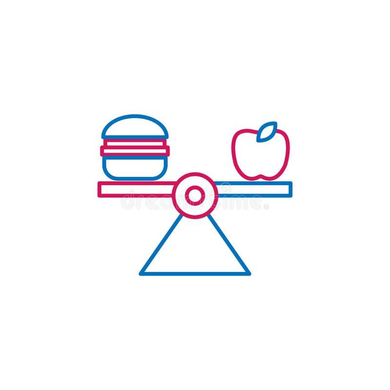 Medisch, uitgebalanceerd dieet gekleurd pictogram Element van geneeskundeillustratie Tekens en symbolen het pictogram kan voor We vector illustratie
