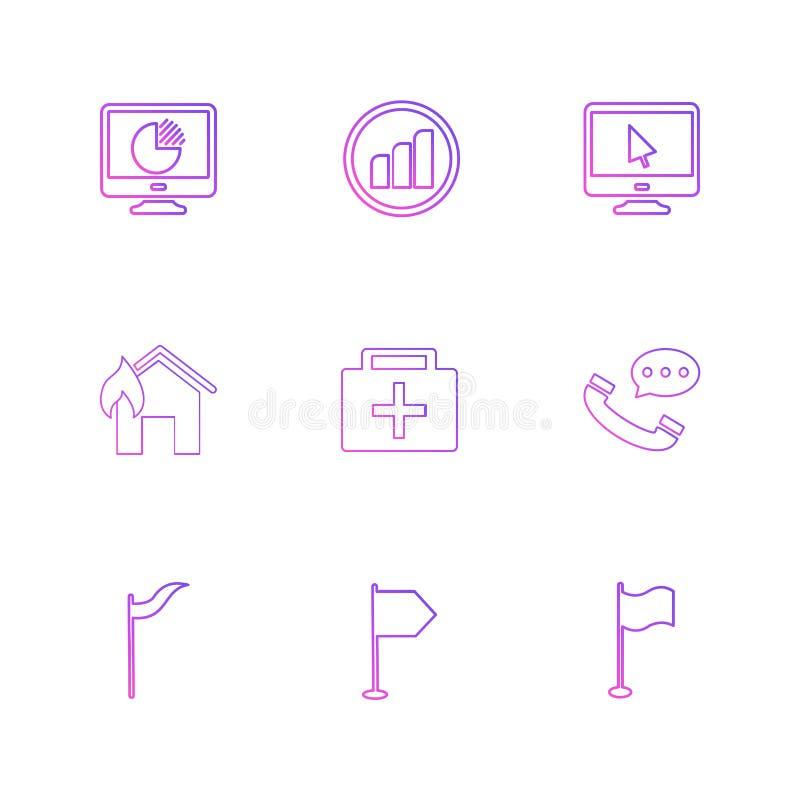 medisch, vraag, huis, signalen, seo, technologie, Internet, vector illustratie