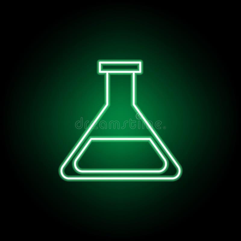 Medisch, wetenschapspictogram in neonstijl Element van geneeskundeillustratie Tekens en symbolen het pictogram kan voor Web, mobi stock illustratie