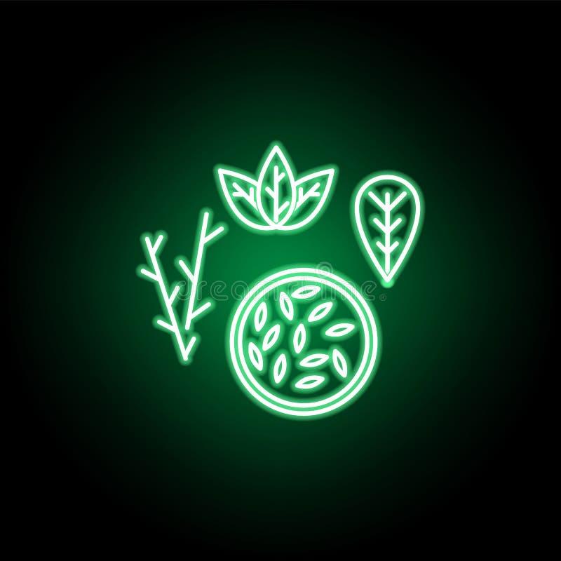 Medisch, zaadpictogram in neonstijl Element van geneeskundeillustratie Tekens en symbolen het pictogram kan voor Web, embleem, mo vector illustratie
