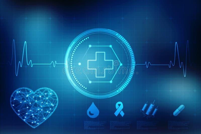 Medische abstracte achtergrond, medische structuurachtergrond vector illustratie