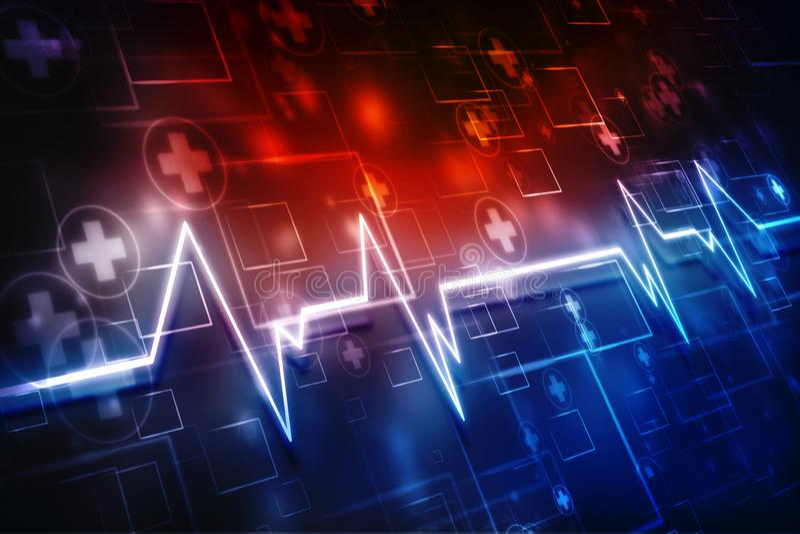 Medische abstracte achtergrond, medische structuurachtergrond stock illustratie