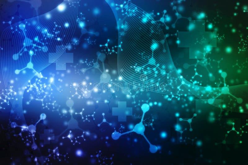 Medische abstracte achtergrond, Medische technologie en Technologieachtergrond vector illustratie