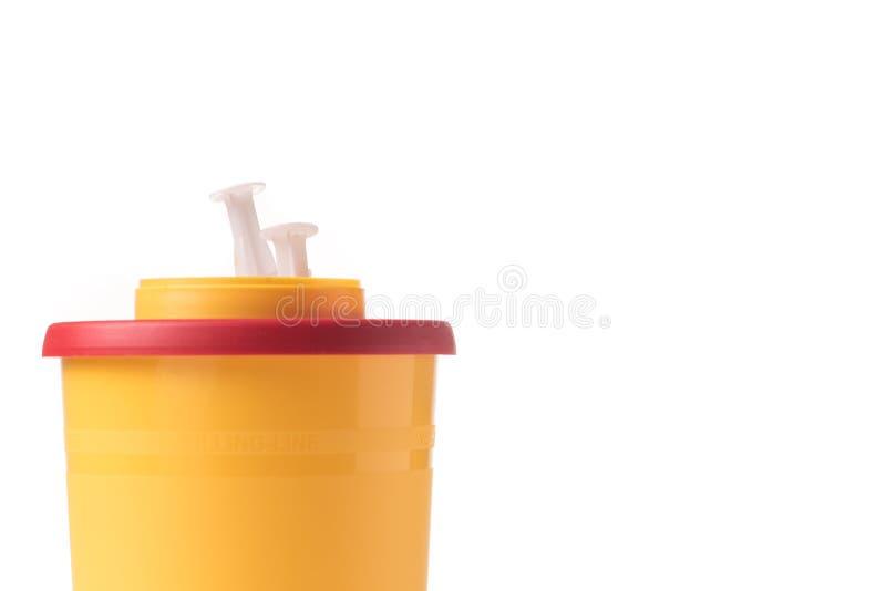 Medische afvalcontainer stock afbeeldingen