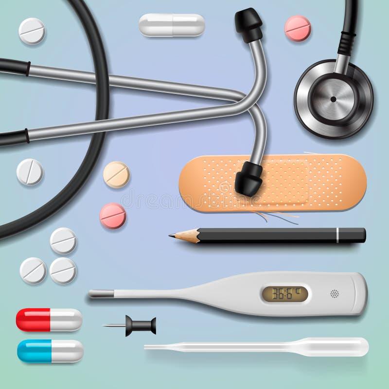 Medische apparatuur stock illustratie