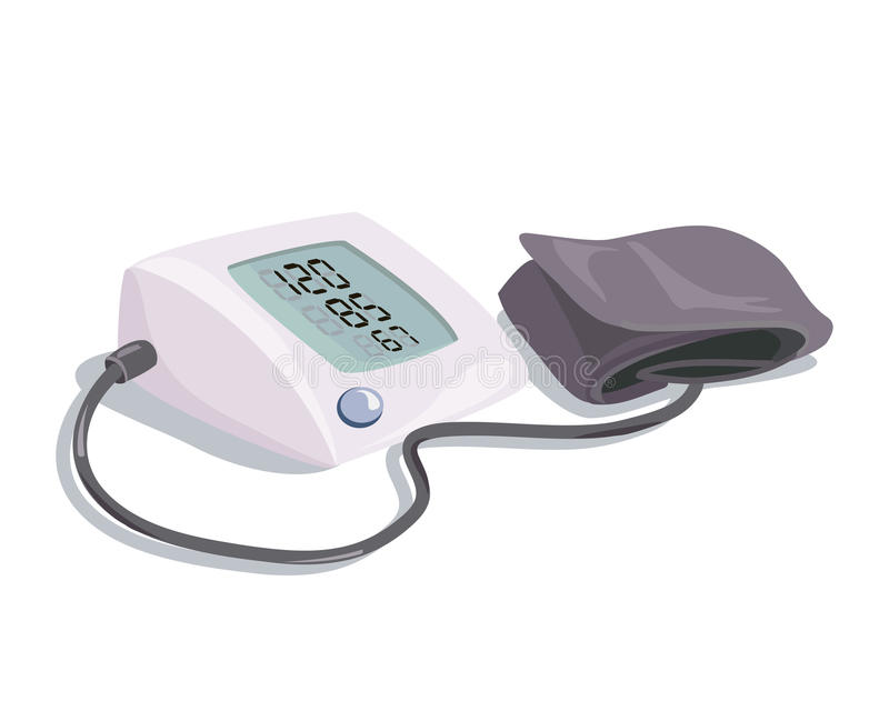 Medische apparatuur bloeddrukapparaat, stock illustratie