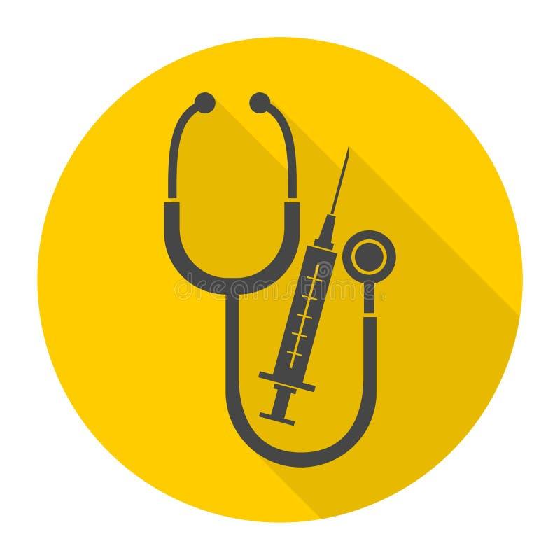 Medische apparatuur met lange schaduw vector illustratie