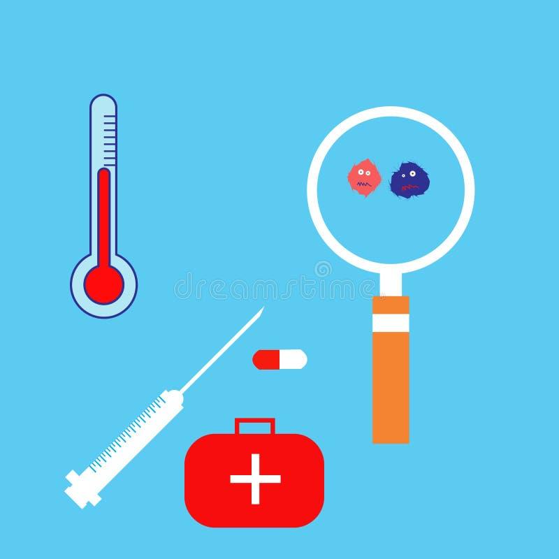 Medische apparatuur, vectorillustratie royalty-vrije illustratie