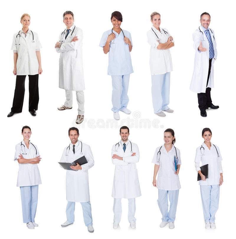 Medische arbeiders, artsen, verpleegsters royalty-vrije stock afbeeldingen