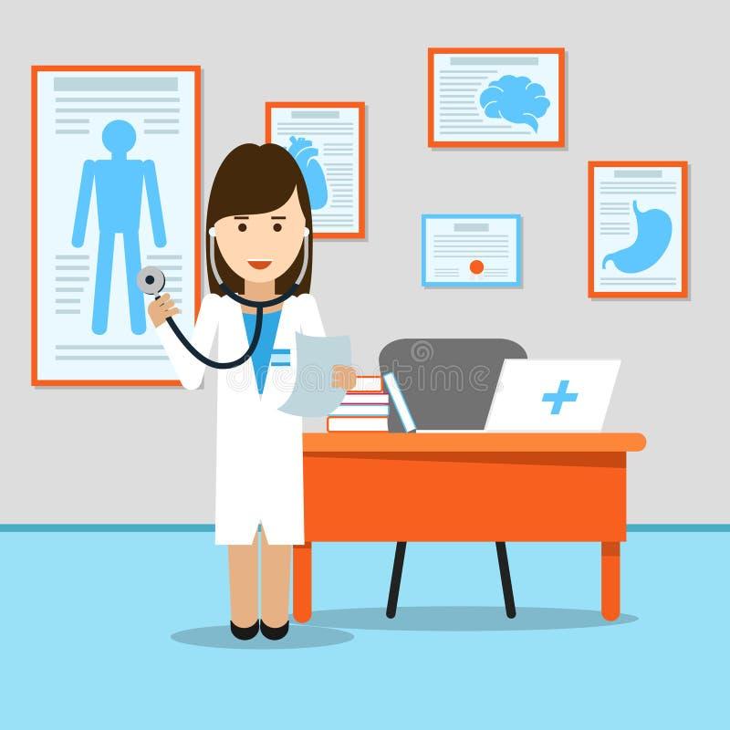 Medische arts bij de lijst royalty-vrije illustratie
