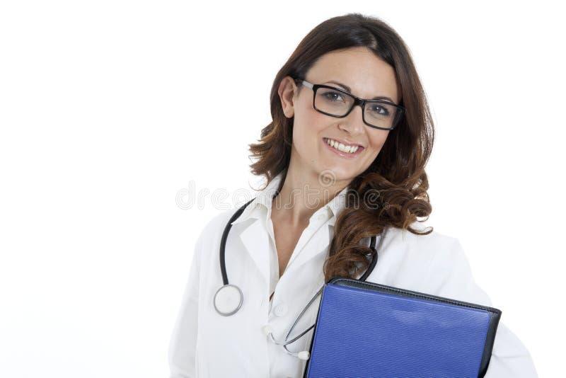 Medische artsenvrouw met stethoscoop royalty-vrije stock afbeeldingen