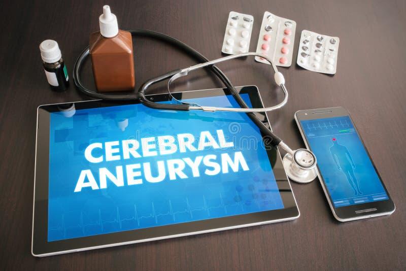 Medische concept het hersen van de aneurisma (hartwanorde) diagnose  royalty-vrije stock afbeelding