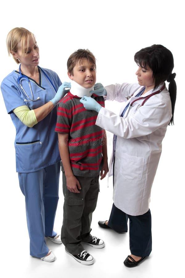Medische de halssteun van de verwonding stock fotografie