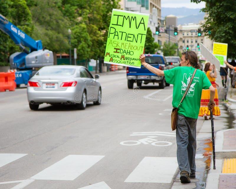 Medische de marihuanavereniging van Idaho royalty-vrije stock afbeeldingen