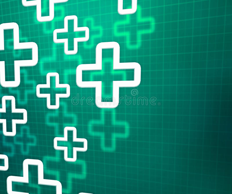 Medische Dwars Groene Achtergrond stock foto's