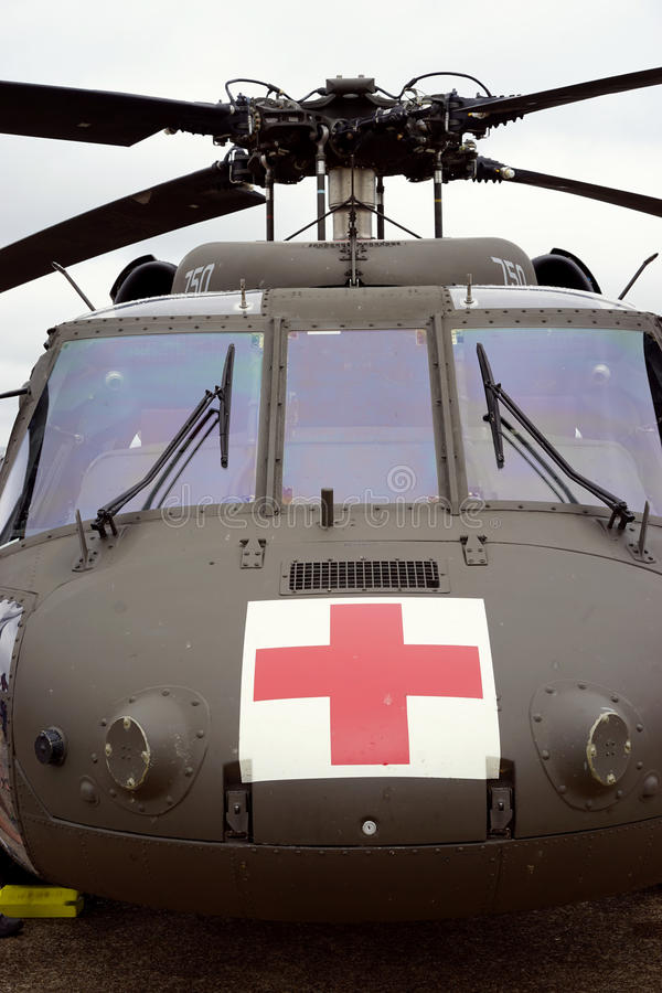 Medische evacuatiehelikopter royalty-vrije stock foto