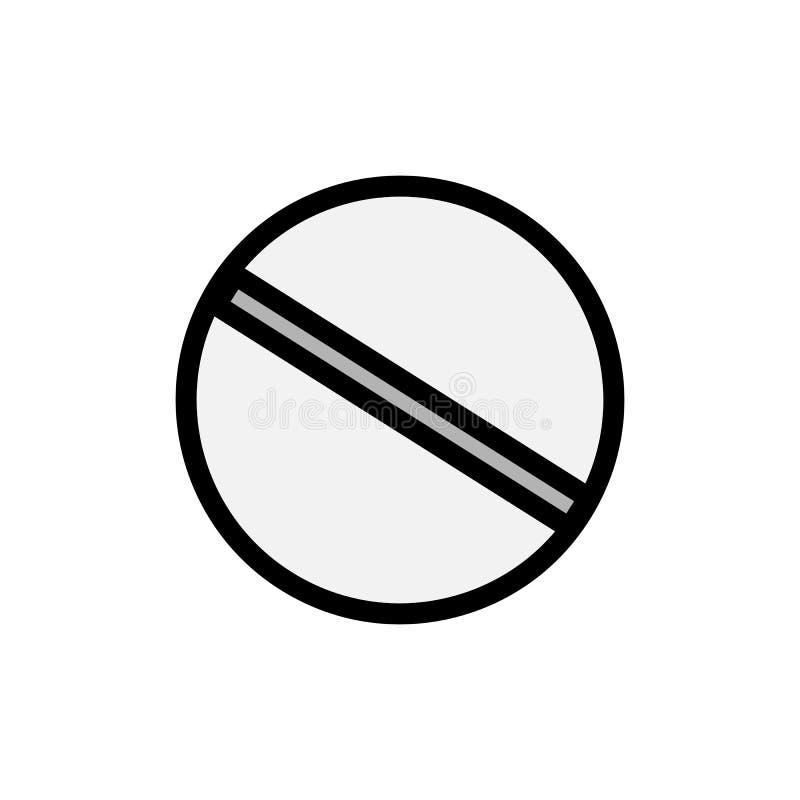 Medische farmaceutische ronde pillen die voor de behandeling van ziekten, een eenvoudig pictogram op een witte achtergrond helen  vector illustratie