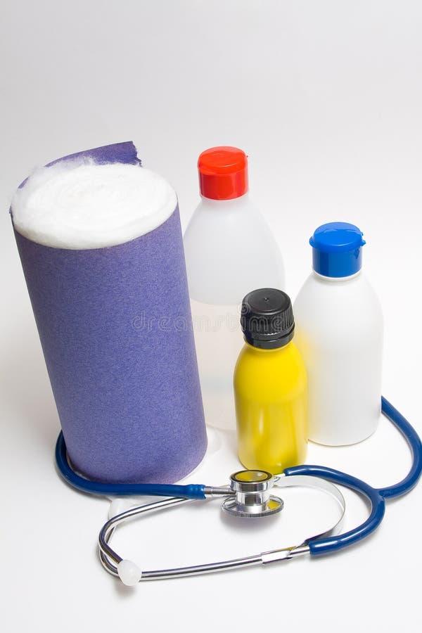 Medische flessen royalty-vrije stock afbeeldingen