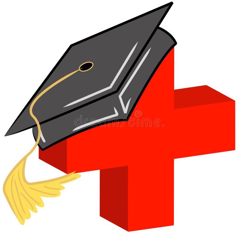 Medische gebiedsgediplomeerde vector illustratie