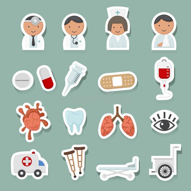 Medische geplaatste pictogrammen royalty-vrije illustratie
