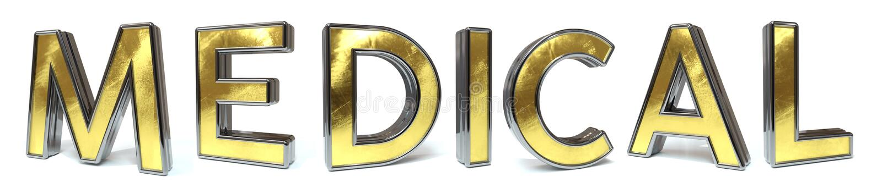 Medische gouden tekst vector illustratie