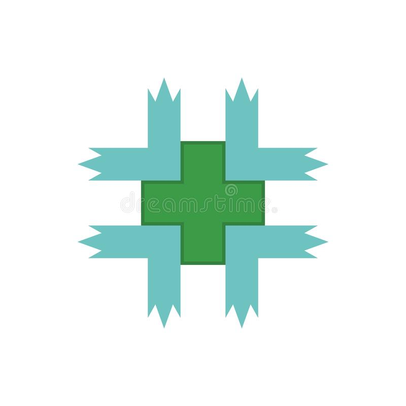 Medische Groene Embleemvector stock illustratie