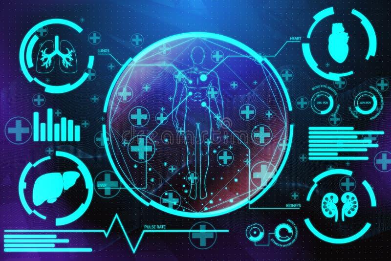 Medische het schermachtergrond royalty-vrije illustratie