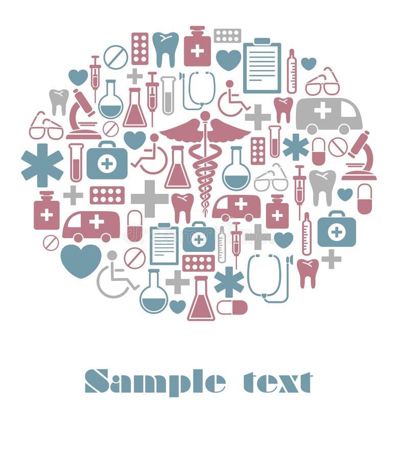 Medische kaart vector illustratie