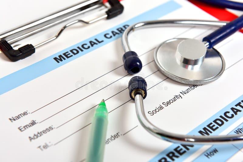 Medische kaart royalty-vrije stock foto