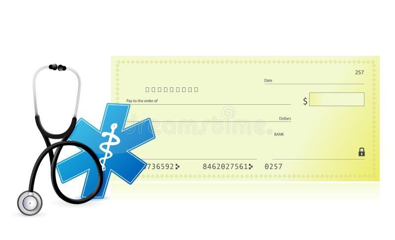 Medische kostconcept royalty-vrije illustratie