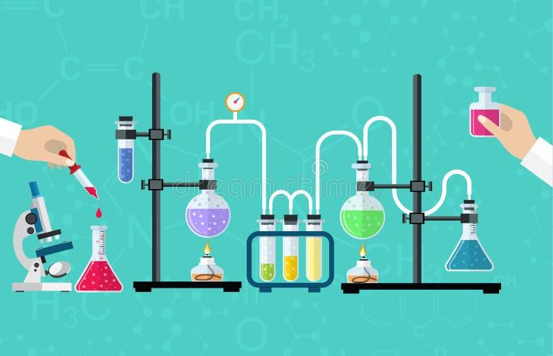 Medische Laboratoriumdesktop vector illustratie