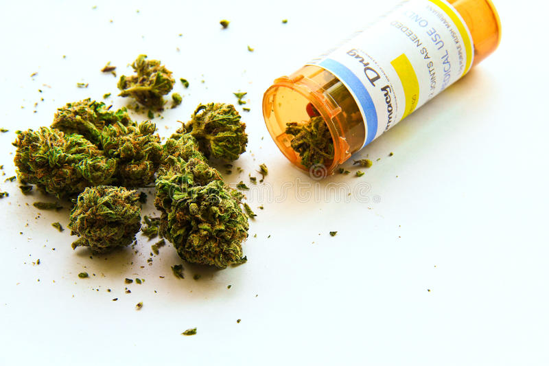 Medische Marihuana A stock afbeeldingen