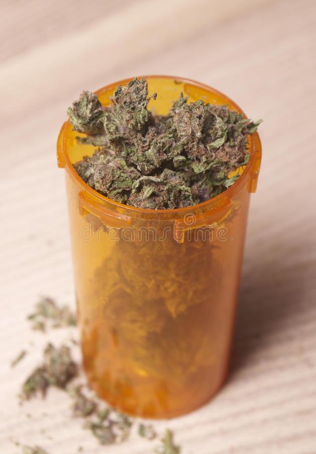 Medische Marihuanaachtergrond royalty-vrije stock afbeeldingen
