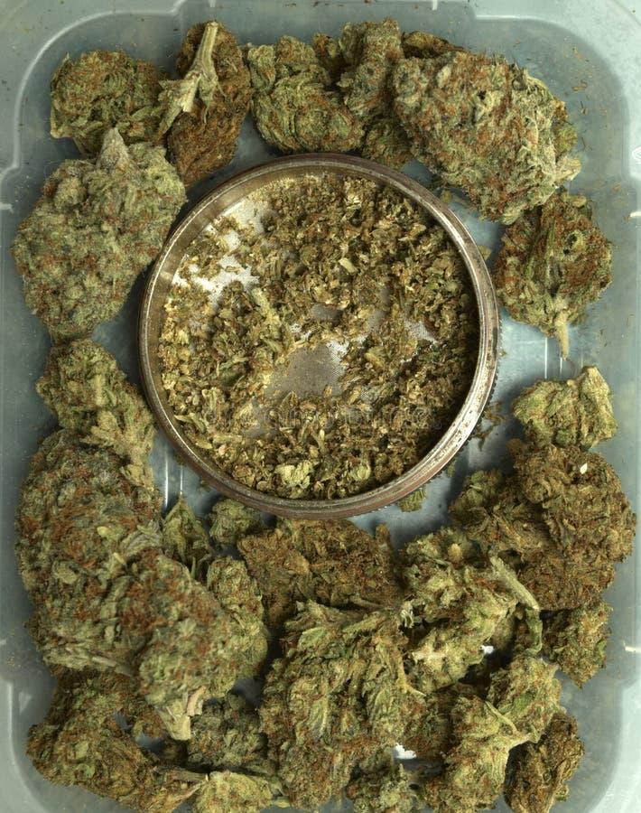 Medische Marihuanaachtergrond stock foto's