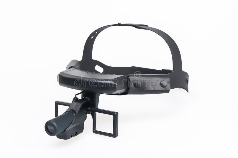 Medische meer magnifier hoofdband royalty-vrije stock afbeelding