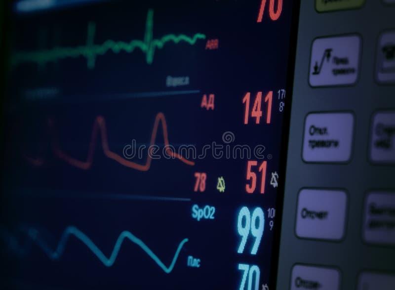 Medische Monitor. stock fotografie
