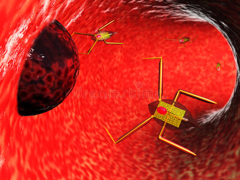 Medische nanobots vector illustratie
