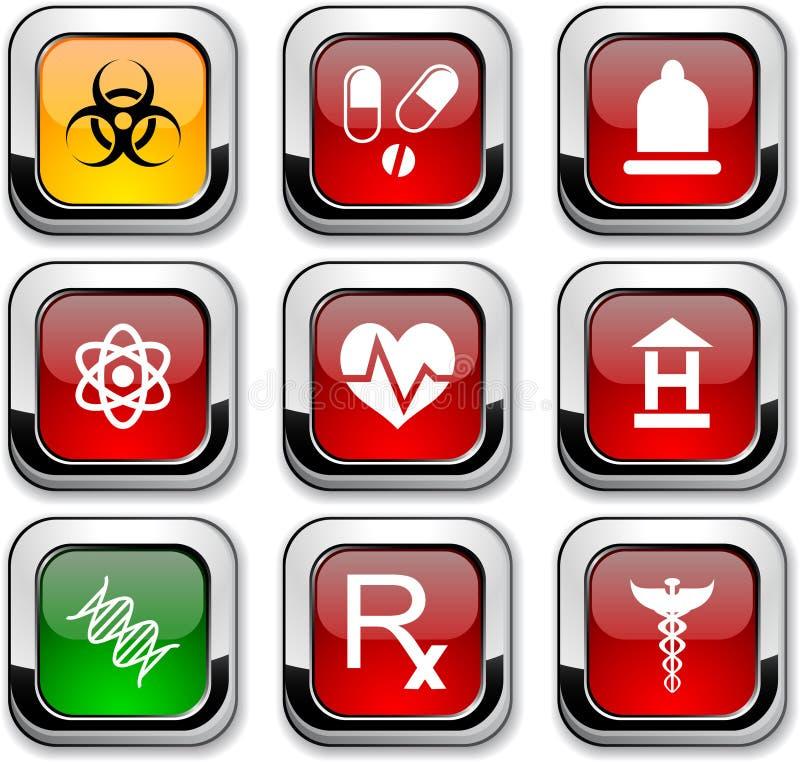 Medische pictogrammen. vector illustratie