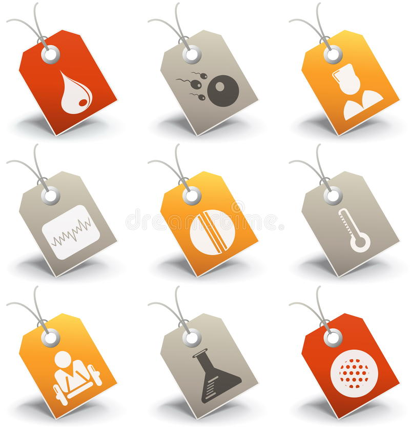Medische pictogrammen stock illustratie